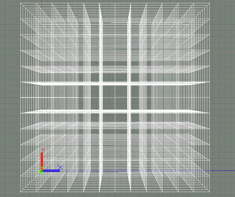 3D Grid Top View COLOR