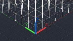 3-D grid origin point
