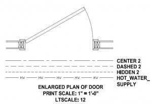 Enlarged Plan of Door