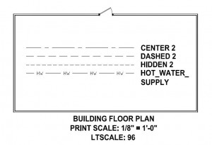 Floor Plan example for Linetype Scale Tutorial