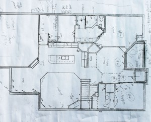 House plan sketch for underlay