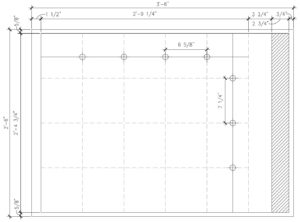 "Layout grid for 42"" x 30"" sheet"