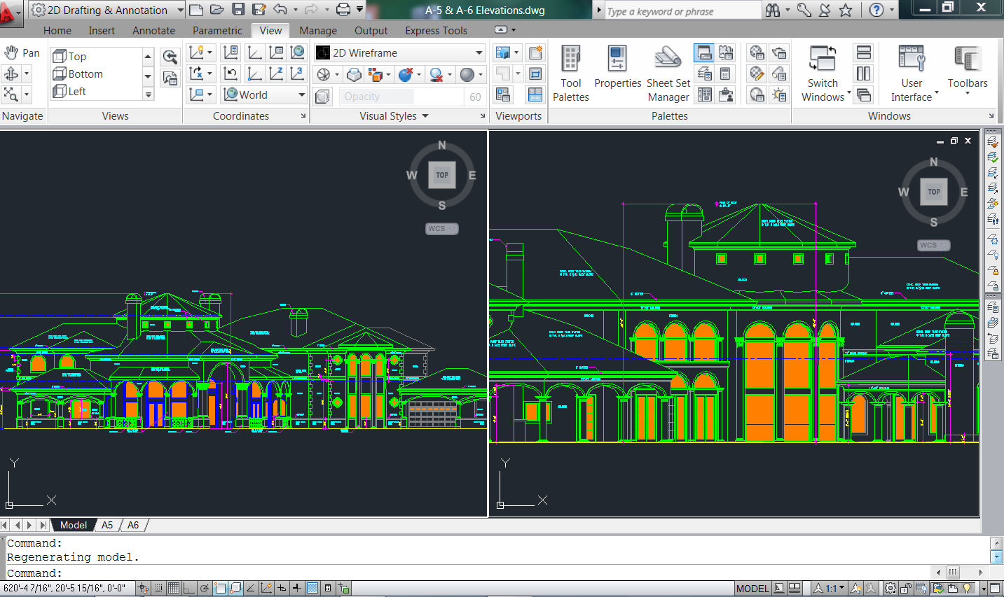 Using the Split Screen in AutoCAD