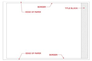 Title block with border