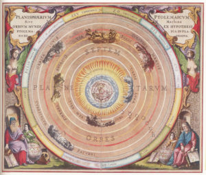 17th-century map of the universe